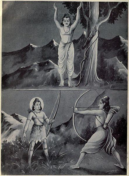 Arjuna-Shiva-fight