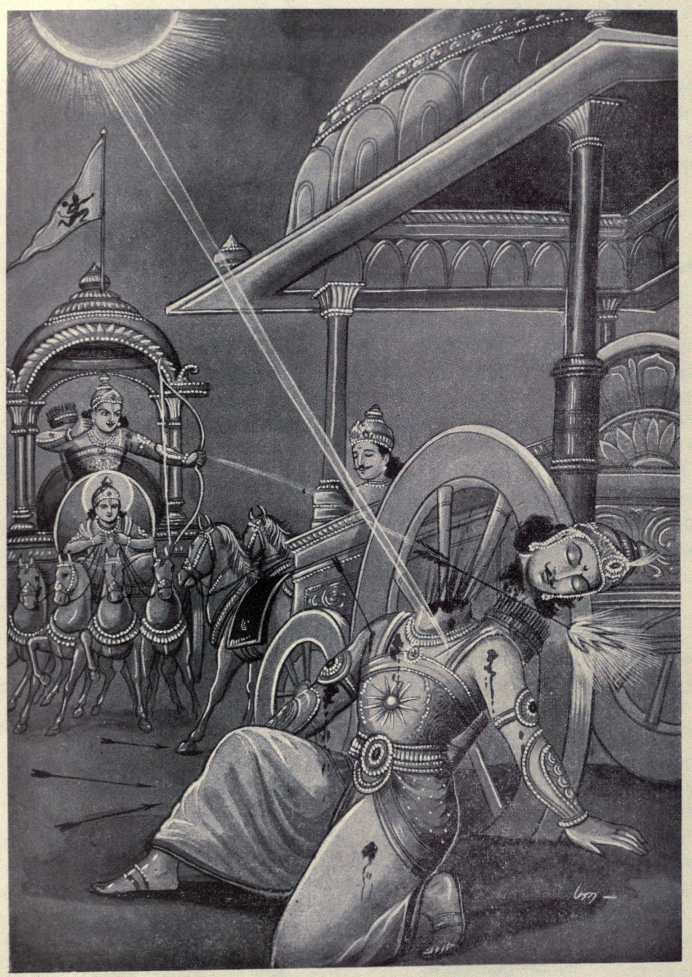 Arjuna_kills_Karna