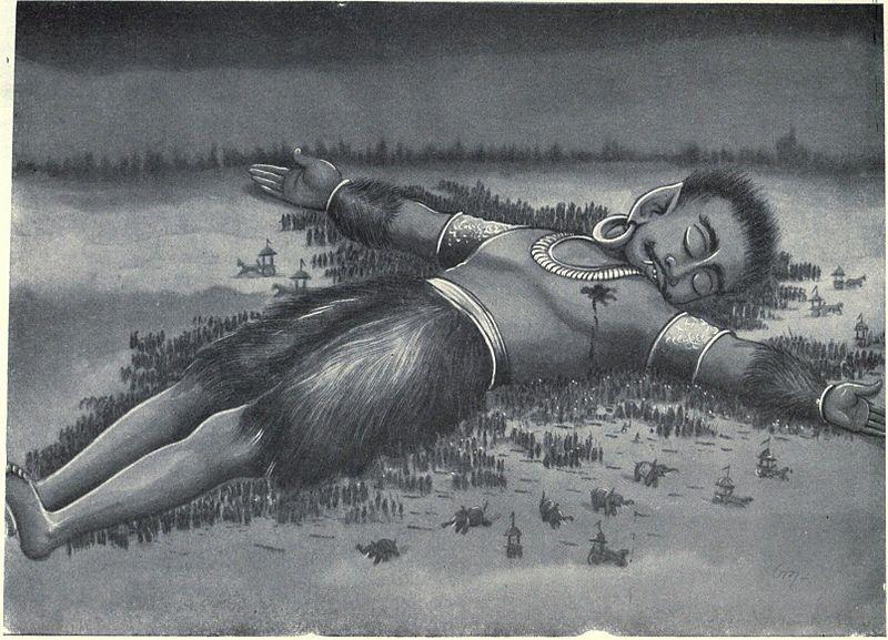 Ghatotkacha's_corpse_falsl_on_one_Akshauhini_of_Kaurava_Army (1)