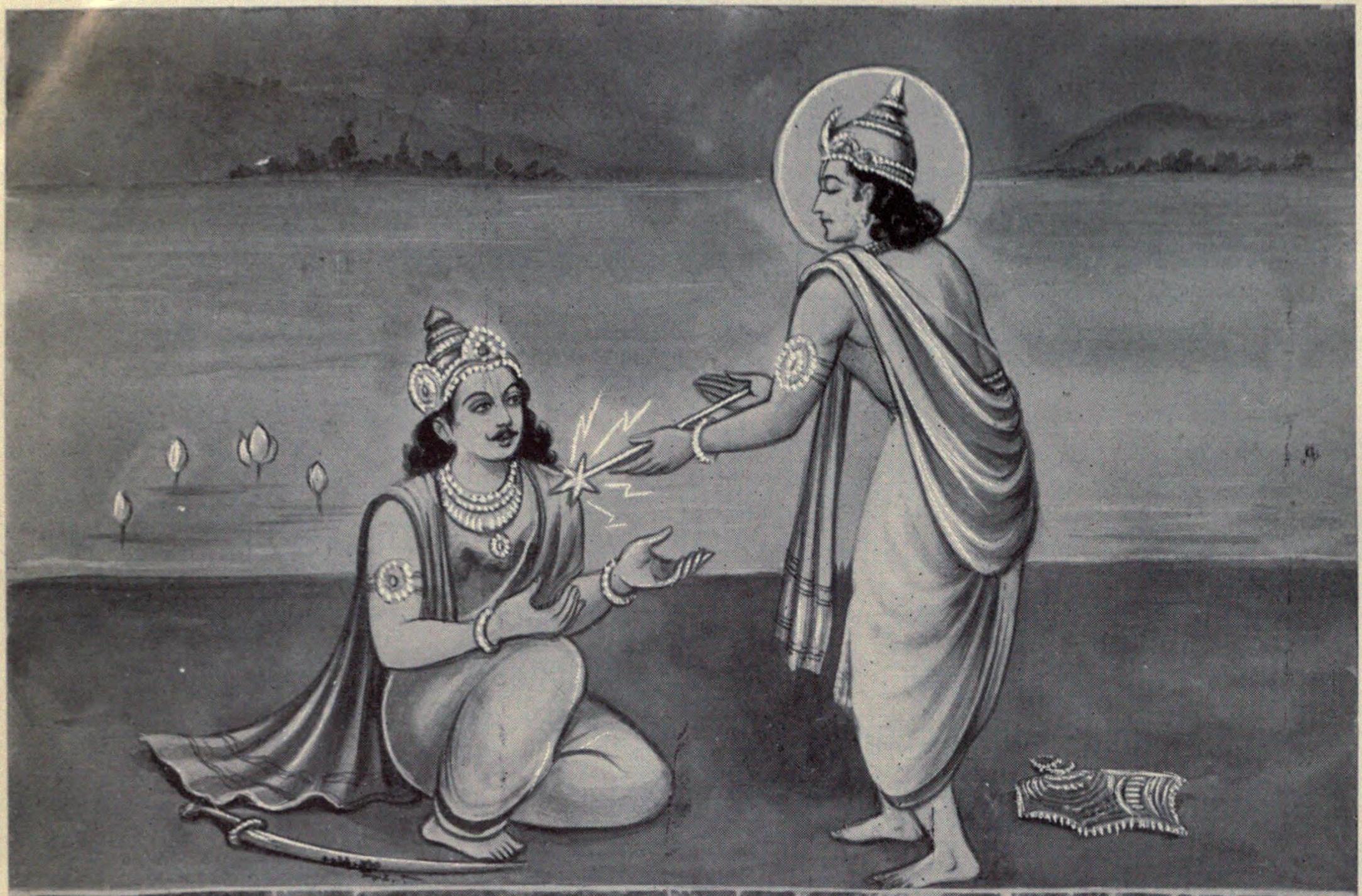 Indra_gives_Indrashakti_to_Karna
