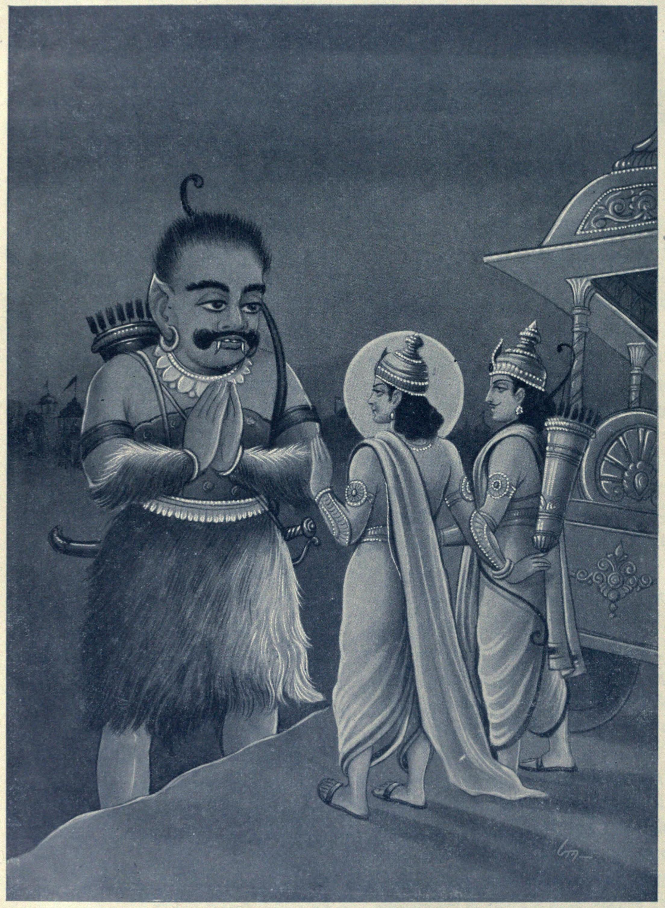 Кришна просит Гхатокачу сразиться с Карной